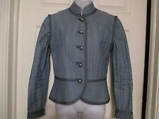 Marc by Marc Jacobs Military quilted blue / gray jacket Size 6 NWT 398.00