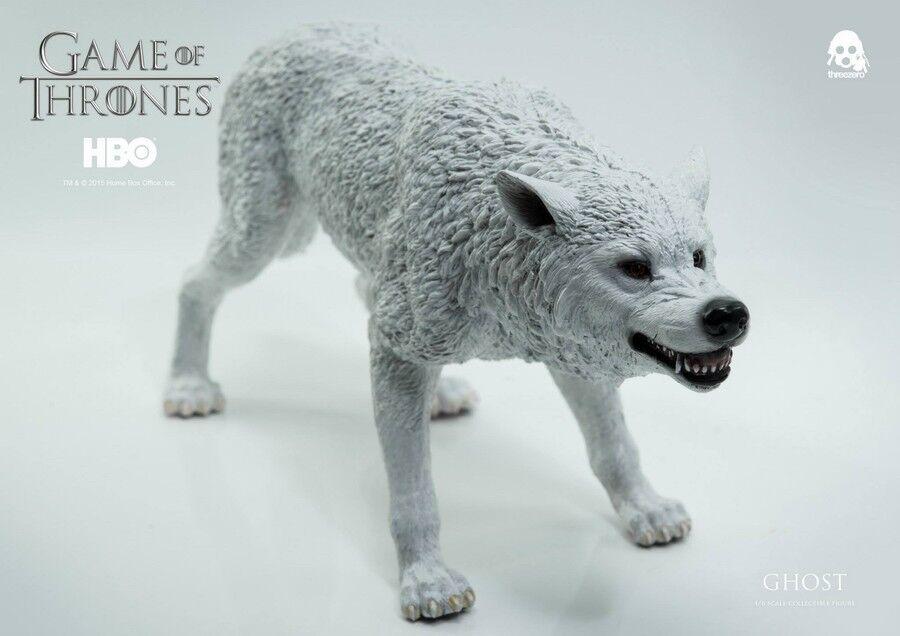 ThreeZero Game of Thrones Jon Snow Direwolf - 1 6th échelle Ghost seulement