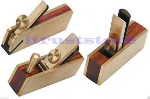 3PC SMALL MINI SIZE WOOD PLANE HAND THUMB DETAIL PLANER HIGH QUALITY