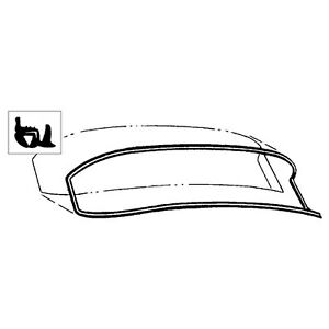 1955 1956 ford car back window seal with groove for chrome part b5a