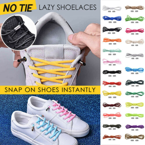 Pair No Tie Lazy Shoelaces Bandage Different Styles Metal Connect Heads Flexible