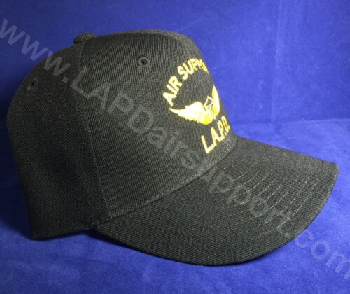 Los Angeles Police Air Support Hat Wings Logo Embroidered Velcro Adjustable LAPD