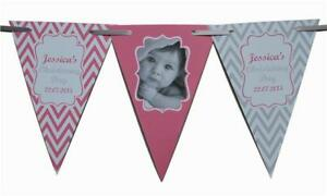 PERSONALISED-Birthday-Boy-Girls-BUNTING-Banner-1st-2nd-5th-30th-any-colour-Photo