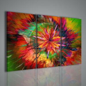 QUADRO MODERNO ABSTRACT MULTICOLOR EFFECT QUADRI ASTRATTI MODERNI ...