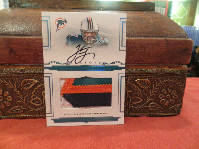 National Treasures ROOKIE  Auto Jersey Autograph Dolphins Jake Long  2/5  2008