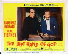 THE LEFT HAND OF GOD 11x14 HUMPHREY BOGART original lobby card movie poster