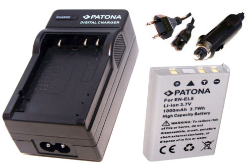 Tischladegerät und AKKU AKKU Ladegerät Batterie für Nikon Coolpix P90