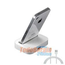 Base de carga soporte DOCK + cable para iPhone 6 4.7  5 5C 5G CARGADOR