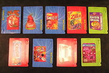 2012 Topps Wacky Packages ANS9 Series 9 FULL SET of 9 MOTION BAG TAGS