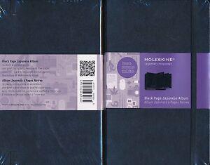 Details About Moleskine Black Page Japanese Album 32 Accordion 200gsm Acid Free Pages 13x21 Cm