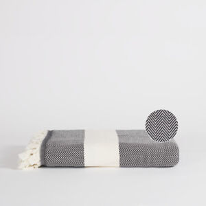 Marvelous Details About Large Black White Herringbone Oversized Patterned Cotton Sofa Bed Throw Blanket Creativecarmelina Interior Chair Design Creativecarmelinacom