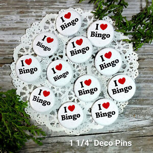 12-Individual-bag-BINGO-Pins-1-1-4-034-Pinback-Buttons-Party-Favor-Gift-New-USA