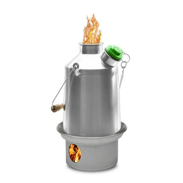 Stainless Scout (1.2 litre) Kelly Kettle, Kits, etc. Wood  Multi Fuel Camp Stove