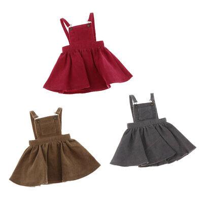 Two-piece Set Short Sleeve Tops Suspender For 1//6 BJD Blythe Dolls Clothing