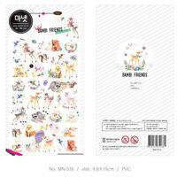 Manet Genuine Korean Bambi Friends Decorative Stickers Adhesive Stickers