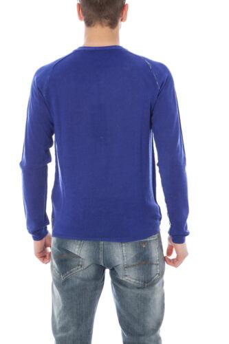 U6w24ke 5b Slim Fit Maglietta Uomo Maglia Pullover Sweater Blu Jeans Armani Lana qH7nSwRv