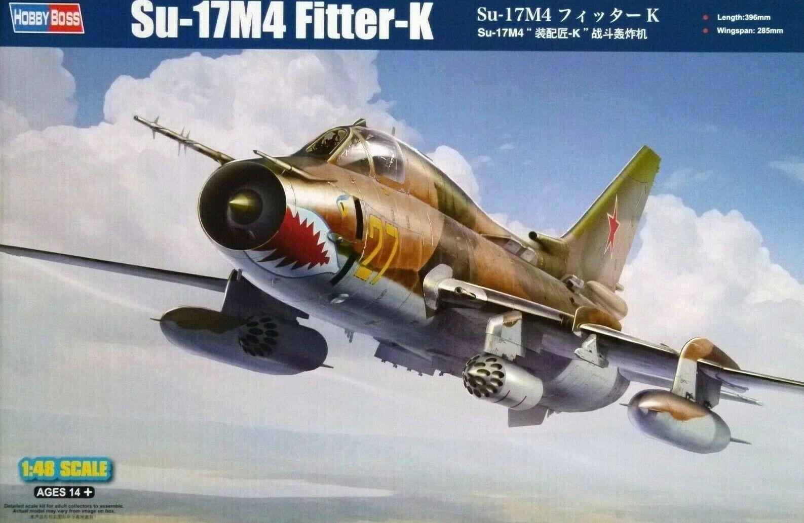 Hobbyboss 1 48 Sukhoi Su-17M4 Fitter-K Aircraft Model Kit