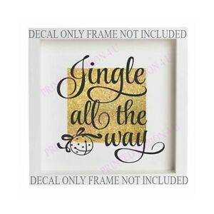 Christmas Vinyl Decals For Glass Blocks.Details About Jingle All The Way Christmas Vinyl Box Frame Glass Block Decal