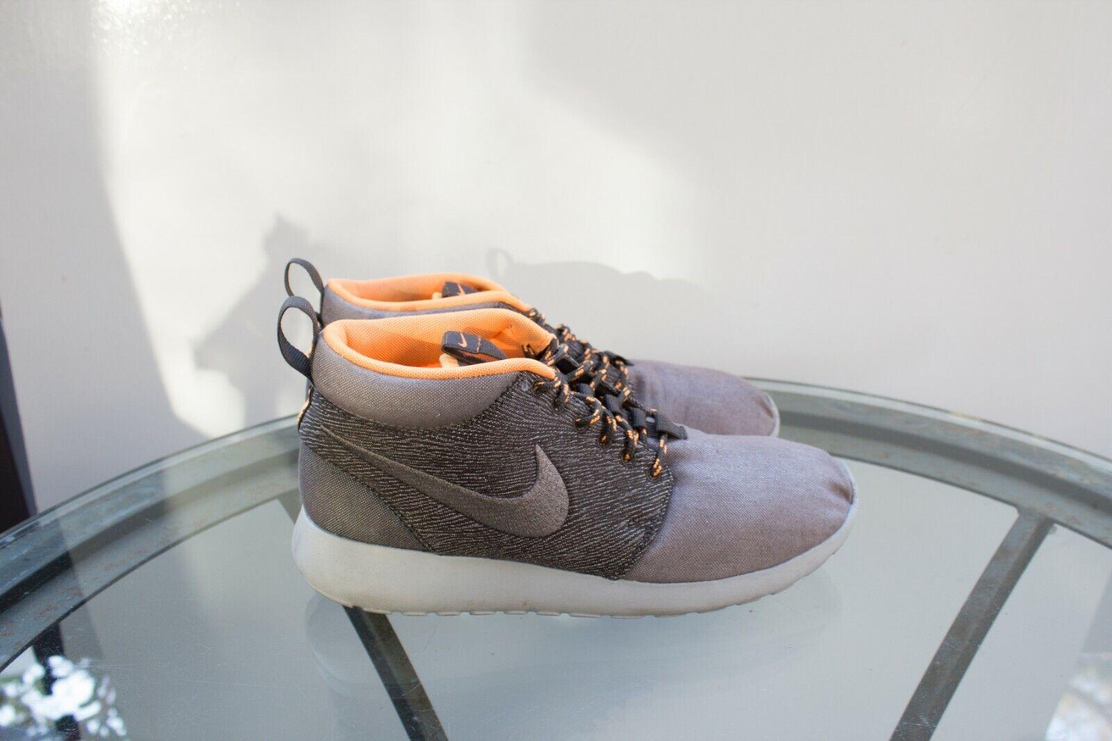 842791f72e Nike ROSHE RUN Mid SMOKE COOL GREY GRANITE 585898-222 Size 7.5 QS LONDON  ntjvgg2592-Athletic Shoes. Men's ...