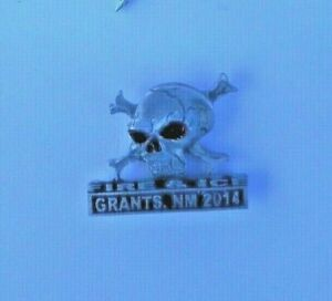 Fire And Ice Grants New Mexico  2014 Pin Skull And Cross Bones Biker Vest Jacket