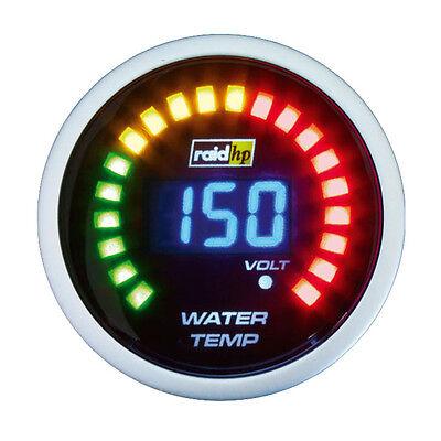 Raid HP nightflight red eau affichage de la température instrument supplémentaire 52mm Noir