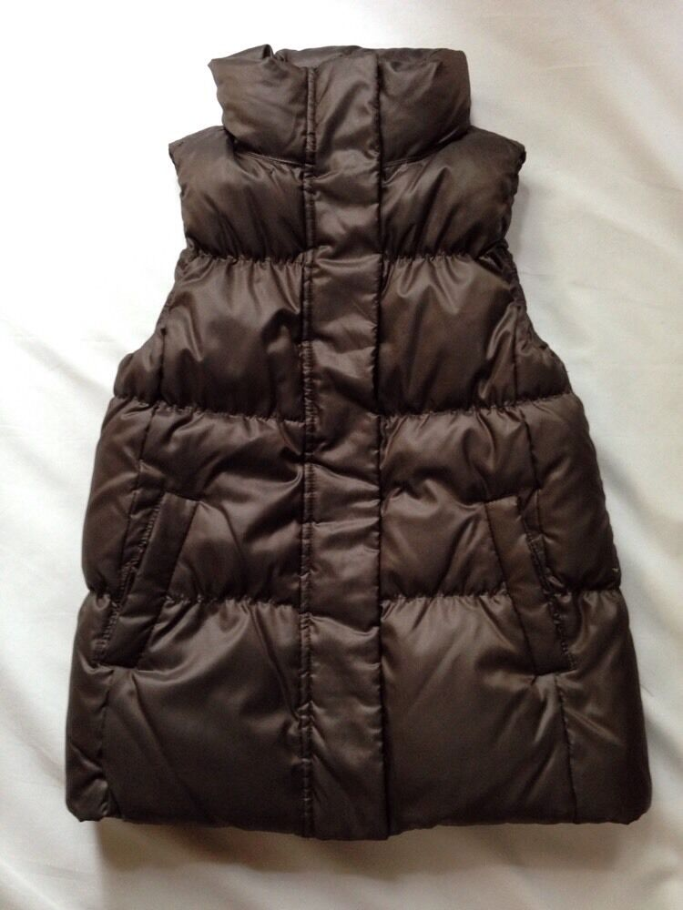 EUC Women's Gap Bronze Brown Down Puffer Vest-Size XS