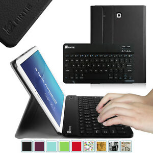 wholesale dealer 231f5 ab75c Details about Fintie Samsung Galaxy Tab E 9.6 Removable Bluetooth Keyboard  Case Stand Cover