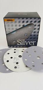 100 x MIRKA Q.Silver Schleifscheiben,Profi, Exzenter, P 150 - Ø150 mm - 15 loch