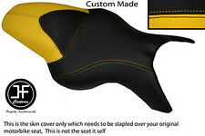 YELLOW BLACK VINYL CUSTOM FITS BMW K 1200 R 05-08 K 1300 R 09-13 DUAL SEAT COVER