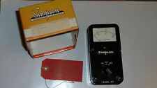 Vintage Simpson Ac Voltmeter Model 371 New Catalog 12300