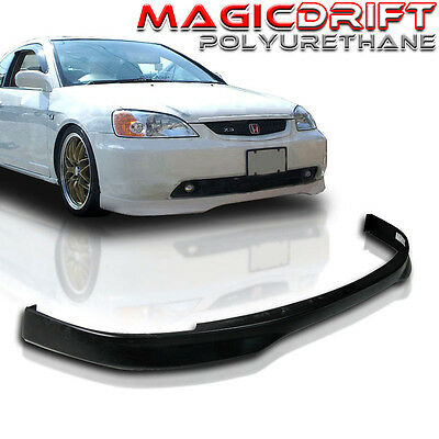 Custom Made for 01-03 Honda Civic Coupes Type-R CTR Style Front Bumper PU Lip