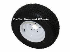 """18.5x8.5-8 LRC 6 PR Loadstar Bias Trailer Tire on 8"""" 5 Lug White Wheel 215/60-8"""