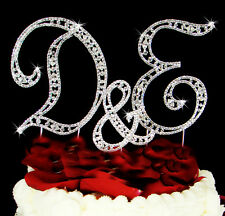 3 Vintage Crystal Monogram Wedding Cake Topper Initial Top Letters
