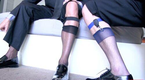Men/'s Socks Garters Ref A15 noir double boutons fixes-chaussettes NEOFAN