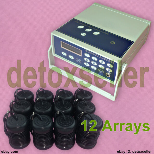 Detox Ionic Foot Bath Spa Cell Cleanse Machine Fir Belt 12 Arrays CE Approved