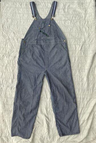 Vintage 1930's 40's KEY Hickory Stripe Overalls Bi