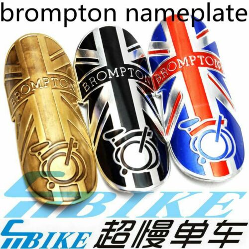 Details about  /Free Shipping ACE Brompton Bicycle Metal Head Badge decal head stem name plate