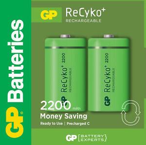 1 X 2 Gp Recyko+ Nimh Akku Baby C 2200 Mah Neue Akku Batterie Batterien