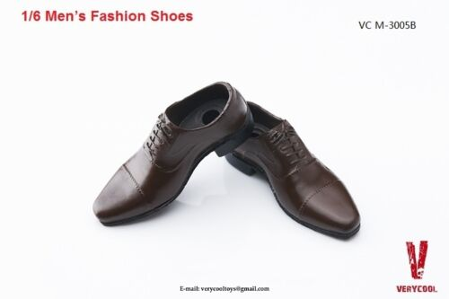 "VERYCOOL Men's Fashion Shoes Brown Color 1//6 Fit for 12/"" action figure"