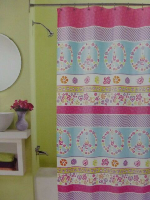 Peri Home Peace Fabric Shower Curtain 70 X 72 NIP