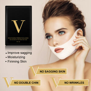 4D-V-Face-Shape-Mask-Face-Care-Facial-Chin-V-shaped-Lifting-Collagen-Firming