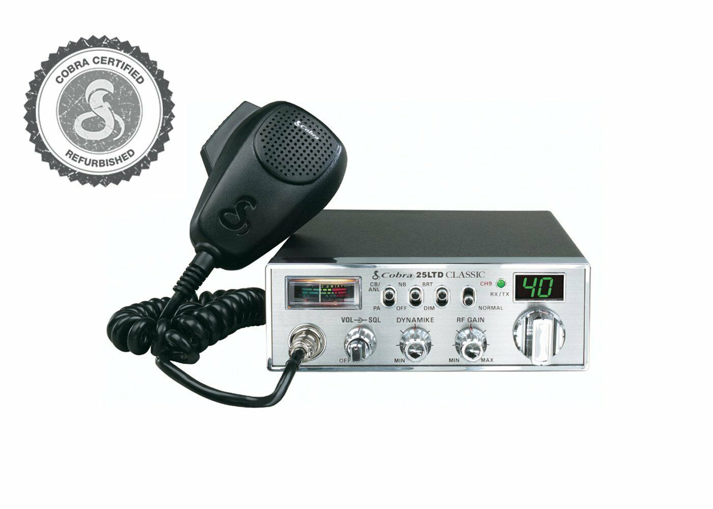 Cobra Electronics 25 LTD Certified Refurbished Professional CB Radio. Available Now for 59.99