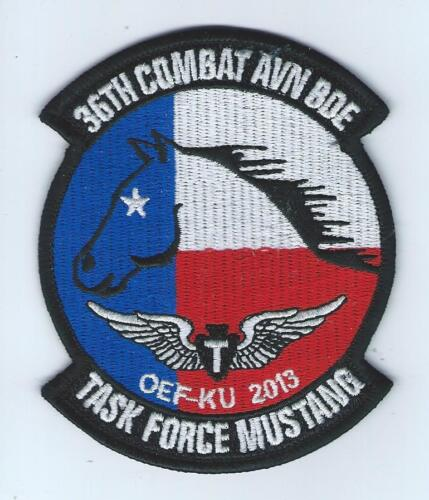 "36th COMBAT AVN BDE OEF-KU 2013 /""TASK FORCE MUSTANG/""  patch"