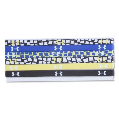 "6 Pack Under Armour Women's Flux Fractual Graphic Mini 12"" Headbands"