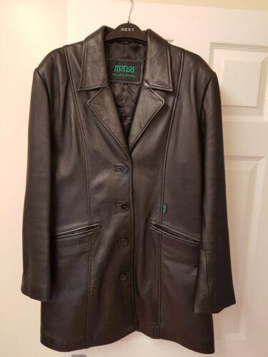 cuir noir pour design dames exclusif box Veste en 14 Mabu au taille ztYEpqx