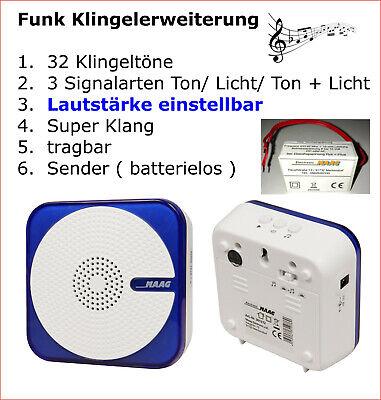 """Funk Bewegungsmelder zur Erweiterung für Klingel Erweiterung system /""""auto/"""" Maag"""