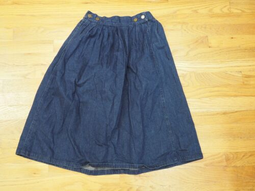 Vintage Calvin Klein Pleated Jean Skirt Women's 2