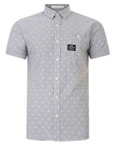 9ddbb7056b684b6 Crosshatch Men New Short Sleeve Summer Slim Fit Shirts Casual Print ...