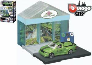 Bburago Build Your City - Gewächshaus Bausatz 1:43 mit Ford SVT F-150 Lightning