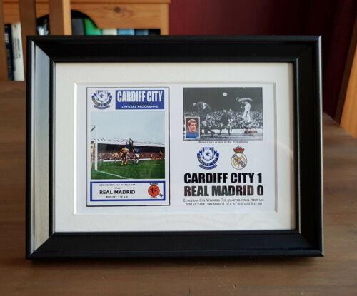 Cardiff City 1 Real Madrid 0-Commémorative Cadre Photo